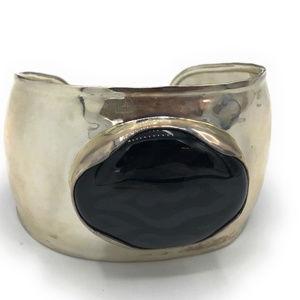 B2043 Retired Silpada Chalcedony Cuff Bracelet